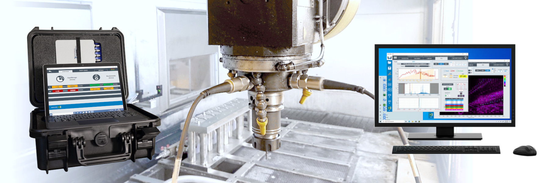 spindle monitoring with IRIS vibration diagnosis system